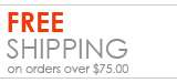 Free Shipping on orders $75.00 or more